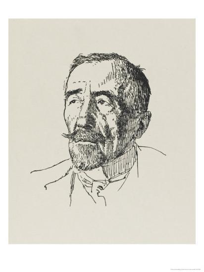 Joseph Conrad Polish-Born Writer in 1922-Powys Evans-Giclee Print