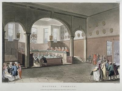 Interior View of the Doctors' Commons, City of London, 1808