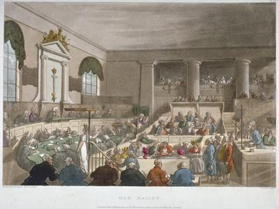 Interior View of the Sessions House, Old Bailey, with a Court in Session, City of London, 1809