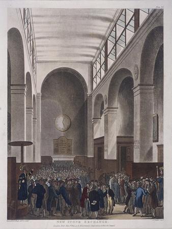 Stock Exchange, Bartholomew Lane, London, 1809