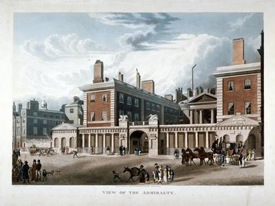 The Admiralty, Whitehall, Westminster, London, 1818