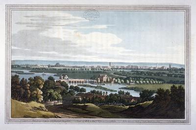 View of Reading from Caversham, Berkshire, 1793