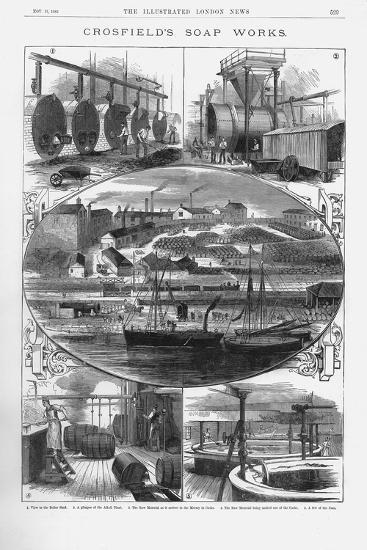 Joseph Crosfield and Son's Soap Factory at Bank Quarry, Warrington, Cheshire, 1886--Giclee Print
