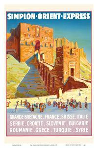 Syria - Simplon Orient Express - Citadel of Aleppo by Joseph de La N?zi?re
