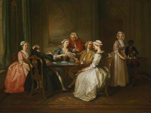 Card-Playing Gathering by Joseph F. zugeschr Nollekens