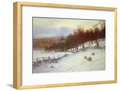 Snow Covered Fields with Sheep