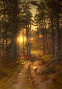 The Sun Fast Sinks in the West by Joseph Farquharson
