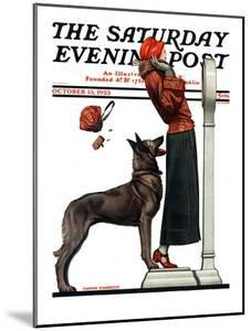 """""""Tipping the Scales,"""" Saturday Evening Post Cover, October 13, 1923 by Joseph Farrelly"""