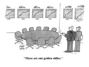 """These are our golden oldies."" - Cartoon by Joseph Farris"