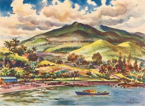 Beautiful Hana - The Island of Maui - Hawaii, USA - United Air Lines by Joseph Fehér
