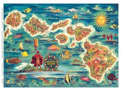 New England Coast Joseph Feher Vintage Airline Travel Art Poster Print Giclée