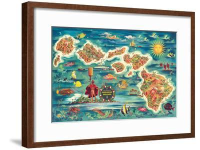 Dole Map of the Hawaiian Islands c.1950 by Joseph Fehér