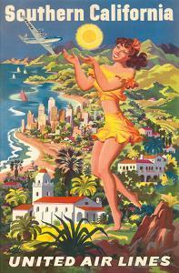 Southern California - United Air Lines by Joseph Fehér