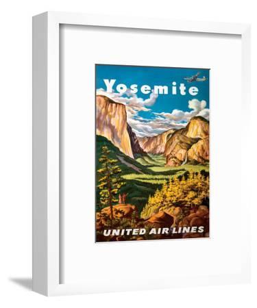 Yosemite - United Air Lines - Yosemite Falls and Yosemite National Park