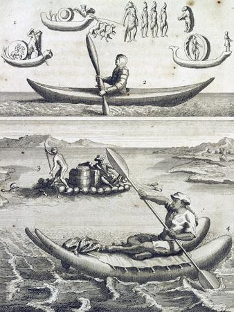 Boats Used by Canadians to Navigate Rivers