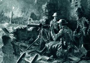 WW1 - Machine Gunners in Action by Joseph Gray