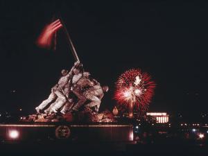 A Fireworks Display Crowns the Washington, D.C. Skyline by Joseph H. Bailey