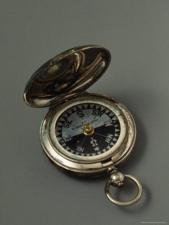 Robert E. Pearys Compass, a Primary Navigational Instrument That He Double-Checked at Local Noon
