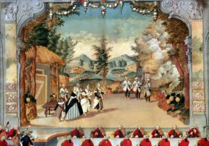 """Joseph Haydn (1732-1809) at the First Performance of His Opera """"L'Incontro Improvviso"""""""