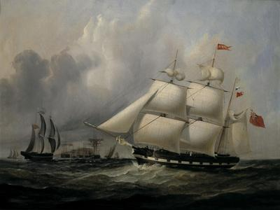 The Barque 'Rival' (335 tons) off the Coast
