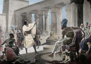 Joseph Interpreting the Pharaoh's Dream. Genesis 41:25-26. 19th Century. Coloured