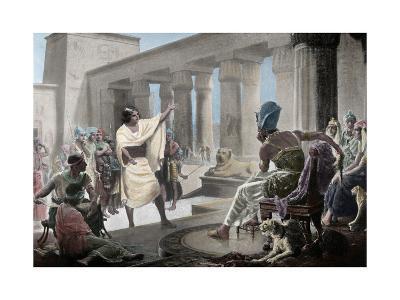 Joseph Interpreting the Pharaoh's Dream. Genesis 41:25-26. 19th Century. Coloured--Giclee Print