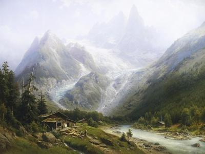 View of Chamonix and Mont Blanc