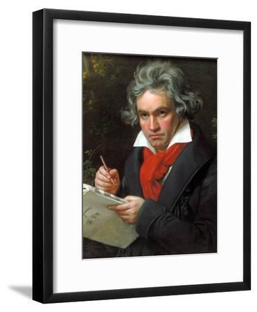 Portrait Ludwig Van Beethoven When Composing the Missa Solemnis, 1820
