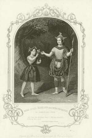 Miss Julia Harland and Miss Conquest as Oberon and Puck, a Midsummer Night's Dream