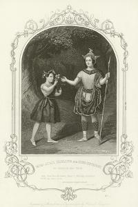 Miss Julia Harland and Miss Conquest as Oberon and Puck, a Midsummer Night's Dream by Joseph Kenny Meadows