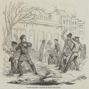 Snow-Balling by Joseph Kenny Meadows