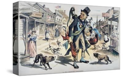 Prohibition  Cartoon, 1889