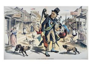 Prohibition  Cartoon, 1889 by Joseph Keppler