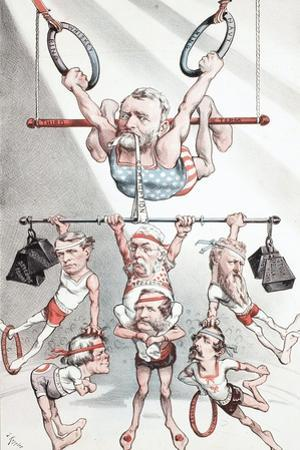 Puck Wants 'A Strong Man at the Head of the Government' - But Not This Kind, 1880