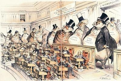 The Bosses of the Senate from the American Magazine 'Puck', January 23rd 1889
