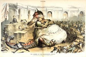 The Opening of the Congressional Session, 1887 by Joseph Keppler