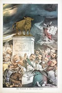The Worship of the Golden Calf, 1880 by Joseph Keppler