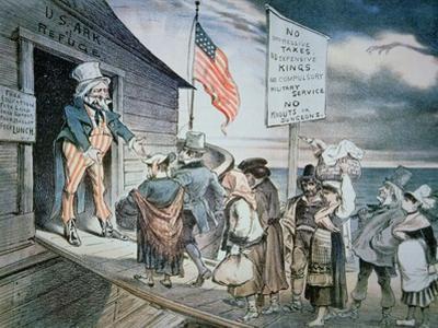 Welcome All Cartoon, 1880