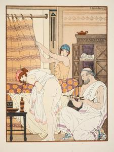 An Enema, Illustration from 'The Works of Hippocrates', 1934 (Colour Litho) by Joseph Kuhn-Regnier