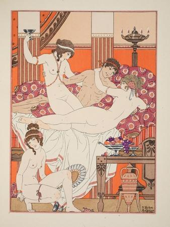 Excess of Wine and Women, Illustration from 'The Works of Hippocrates', 1934 (Colour Litho)