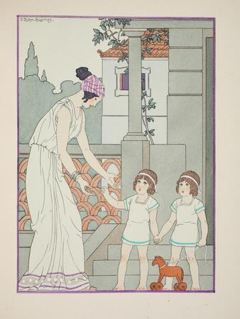 Identical Twins, Illustration from 'The Works of Hippocrates', 1934 (Colour Litho)