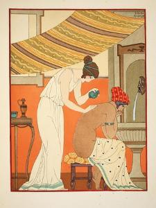Must Anoint the Wounds with Oil, Illustration from 'The Works of Hippocrates', 1934 (Colour Litho) by Joseph Kuhn-Regnier
