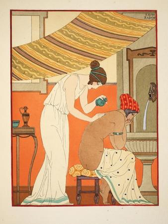 Must Anoint the Wounds with Oil, Illustration from 'The Works of Hippocrates', 1934 (Colour Litho)