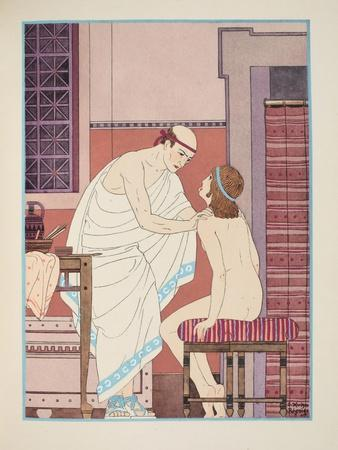 Oral Examination, Illustration from 'The Works of Hippocrates', 1934 (Colour Litho)