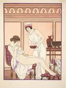 Sponge Bath, Illustration from 'The Works of Hippocrates', 1934 (Colour Litho) by Joseph Kuhn-Regnier
