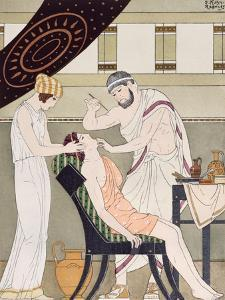 The Dentist, Illustration from 'The Complete Works of Hippocrates', 1932 (Colour Litho) by Joseph Kuhn-Regnier
