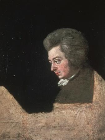 Wolfgang Amadeus Mozart, 1782 by Joseph Lange
