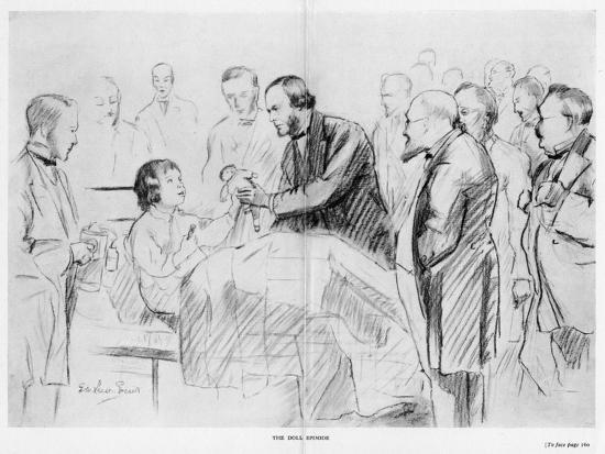 Joseph Lister, English Surgeon, on His Ward Round in Glasgow Royal Infirmary, C1867--Giclee Print