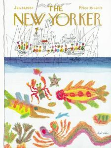 The New Yorker Cover - January 14, 1967 by Joseph Low