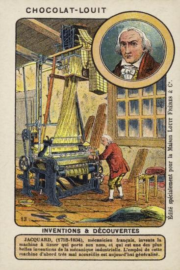 Joseph Marie Jacquard, French Weaver and Merchant--Giclee Print